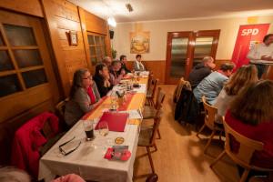 Einige Kandidat*innen der SPD-Liste: Adrienne Baumann, Luise Wittmann, Gerd Kissel, Franz Sedlmayr, Andreas Jäger und Gabi Schild
