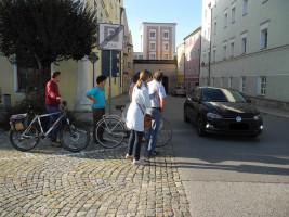 Die Querungssituation am Burghausener Tor