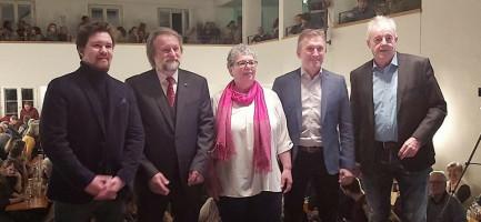 Gruppenbild mit Karlheinz Kas und Ralf Enzensberger von der PNP - Danke!